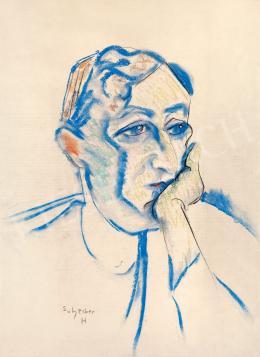 Scheiber Hugó - Könyökére támaszkodó férfi (1925 körül)