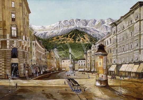 Ismeretlen festő - Alpesi város | 8. Aukció aukció / 134 tétel