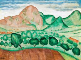 Pap Géza - Budaörsi hegyek (1925 körül)