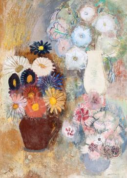 Mattioni, Eszter (Hollósné, Hollós Mattioni E - Still-Life with Flower (c. 1940)