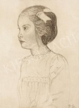 Nagy, Sándor - Portrait of a Little Girl