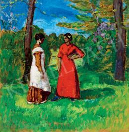 Iványi Grünwald Béla - Lányok a parkban (1910 körül)