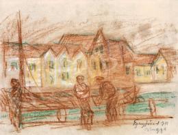 Egry József - Kikötő (Brugge) (1911)