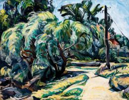 Pór, Bertalan - Expressive Landscape (1918)