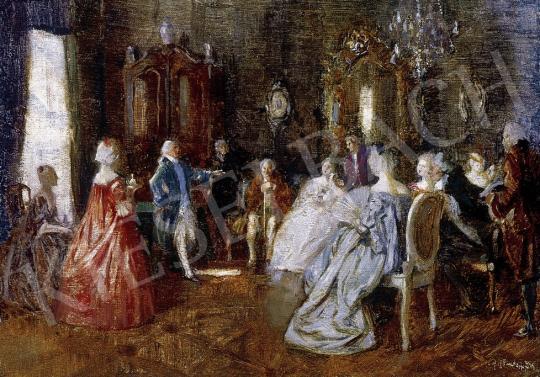 Ismeretlen festő - Rokokó jelenet | 8. Aukció aukció / 137 tétel