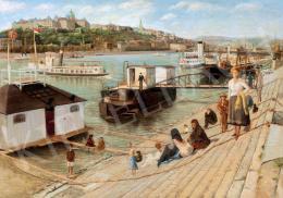 Ismeretlen magyar festő - Budapesti látkép (1920 körül)