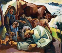 Zsögödi Nagy Imre - Pihenő család (1930-as évek)