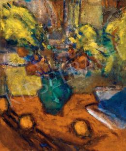 Czóbel Béla - Műtermi csendélet virágokkal