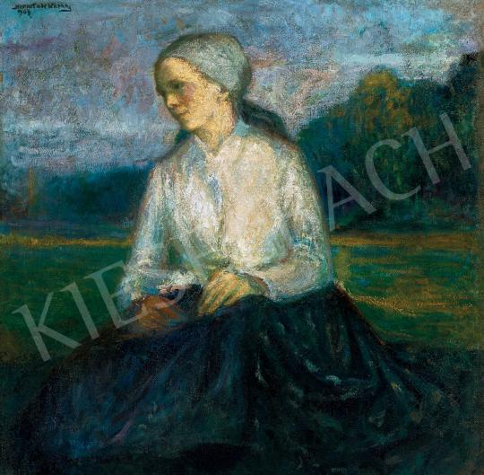 Kernstok Károly - Fiatal lány tájban | 46. Aukció aukció / 83 tétel