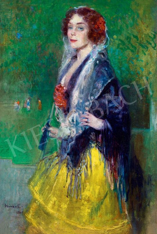 Herrer Cézár - Spanyol szépség | 46. Aukció aukció / 92 tétel