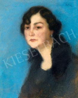Rippl-Rónai József - Prémgalléros hölgy