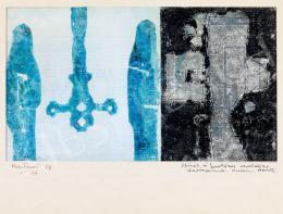 Bálint Endre - Kék alakos kompozíció