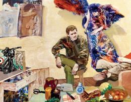 Konkoly Gyula - A múzsa látogatása a Képzőművészeti Főiskolán