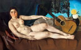 Apátfalvi Czene János - Akt gitárral műteremben