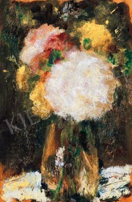 Koszta, József - Flowers in a Vase of Glass