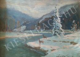Zórád Géza - Téli tájkép