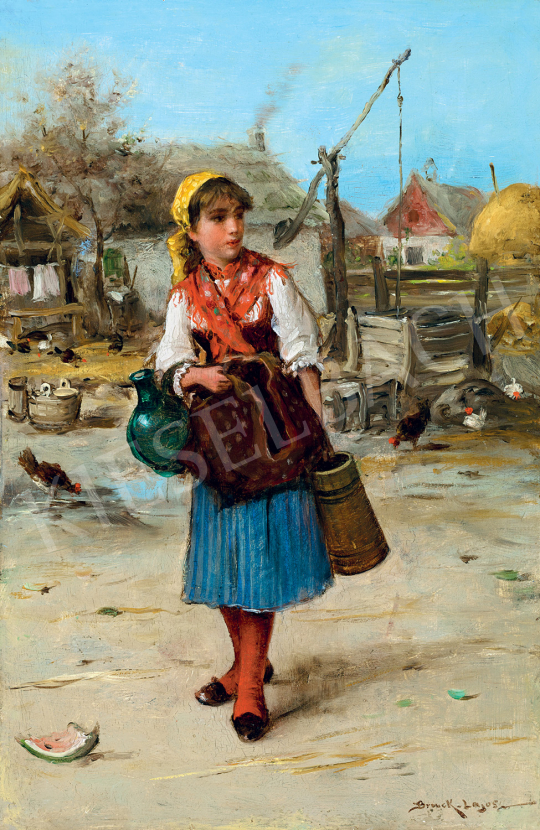 Bruck, Lajos - Girl with Red Kerchief | 47th Autumn Sale auction / 3 Item