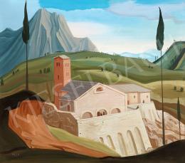 Molnár C. Pál - Itáliai kisváros (Toscana) (1930-as évek első fele)