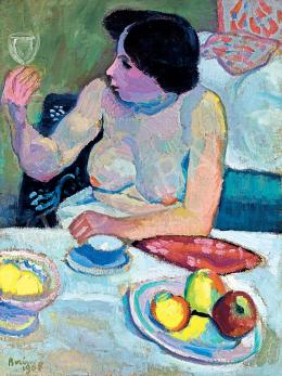 Berény Róbert - Nő pohárral