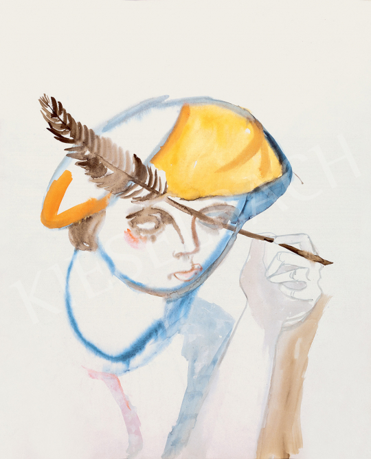Ámos, Imre - The Artist in a Yellow Barrette   47th Autumn Sale auction / 33 Item