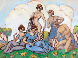 Kádár Béla - Tavaszünnep (Természetben) (1911 körül)