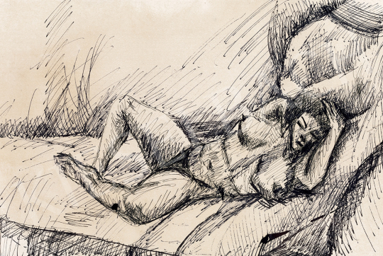 Tihanyi, Lajos, - Female Nude Lying | 47th Autumn Sale auction / 50 Item
