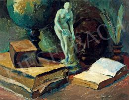 Perlrott Csaba Vilmos - Csendélet szoborral