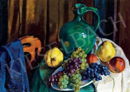 Ziffer Sándor - Műtermi csendélet szőlővel