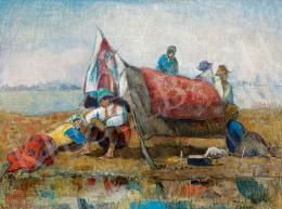 Iványi Grünwald Béla - Sátor körül pihenők
