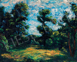 Orbán, Dezső - Forest with Clouds