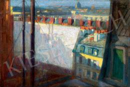 Török Jenő - Párizsi kilátás a műteremablakból