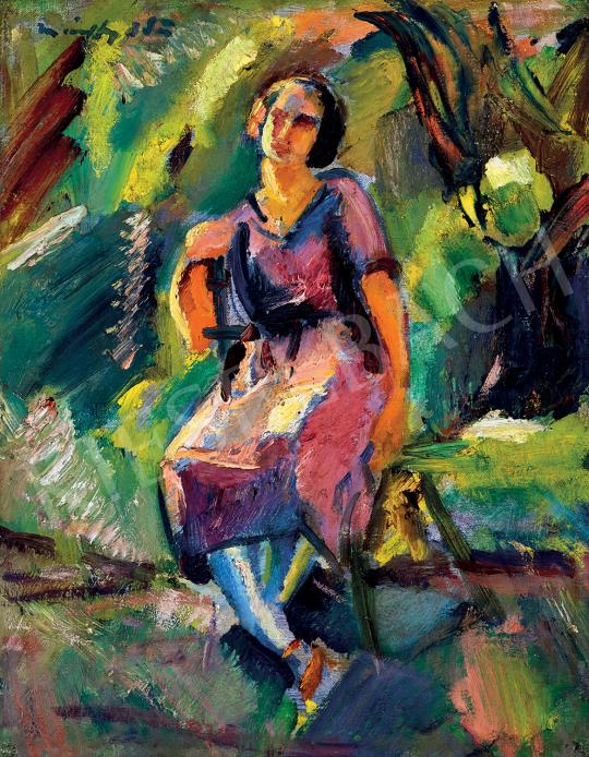 Márffy Ödön - Lány zöldben | 47. őszi aukció aukció / 104 tétel