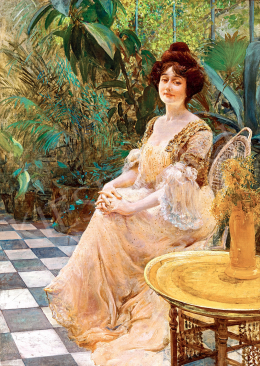Kunffy, Lajos - Parisian Woman in the Winter-Garden (Kunffyné)