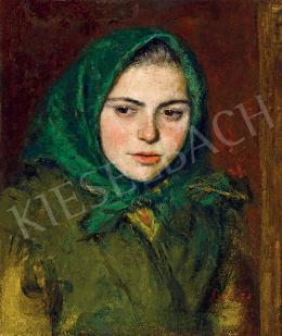 Glatz, Oszkár - Girl in Green Kerchief