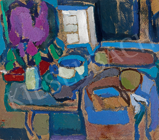Gruber, Béla - Still Life in Purple, Brown and Blue | 47th Autumn Sale auction / 146 Item