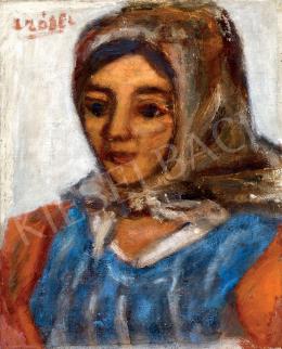 Czóbel Béla - A vörös-kék ruhás nő