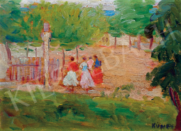 Kunffy, Lajos - Girls at the Village End