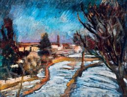 Orbán, Dezső - Snowy Landscape