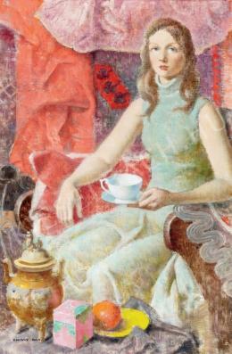 Kontuly Béla - Fiatal lány (Egy csésze tea)