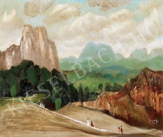 Molnár C. Pál - Itáliai táj festménye