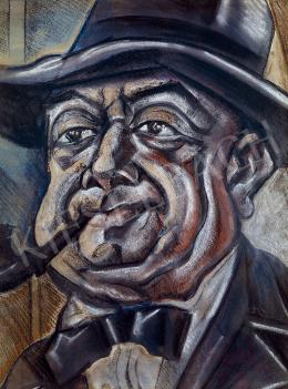 Scheiber, Hugó - Self-portrait with a Hat