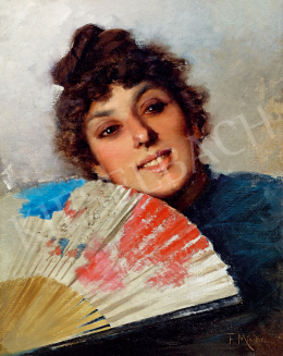 Francisco Miralles - Young Spanish Woman with a Fan