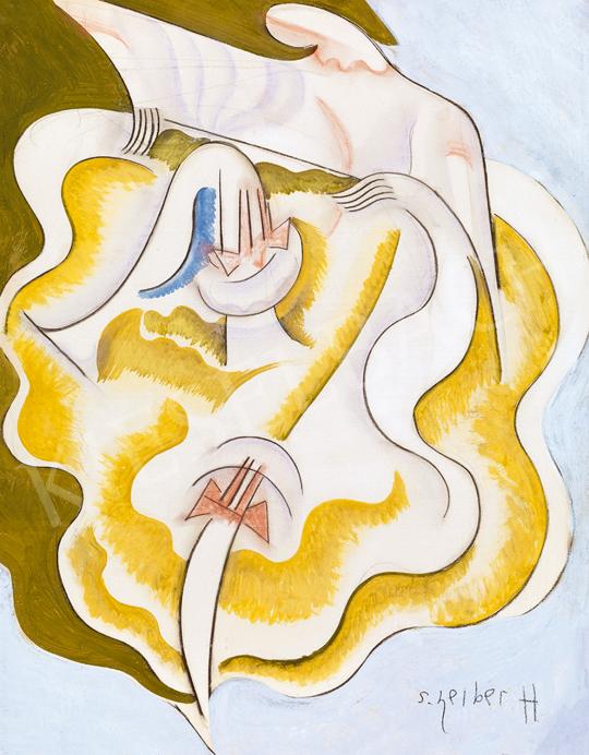 Scheiber Hugó - Sárga ruhás táncosnő | 48. téli aukció aukció / 16 tétel