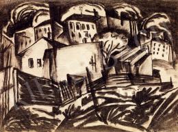 Kádár Béla - Városszéli házak (1920-as évek eleje)