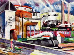 Klie, Zoltán - Station in Paris (1929)