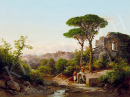 Ifj. Markó, Károly jr. - Italian Landscape with Ruins and Well