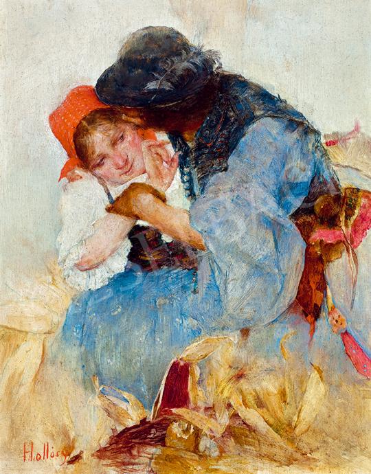 Hollósy, Simon - Corn Husking (Lovers)   Winter Auction auction / 66 Item