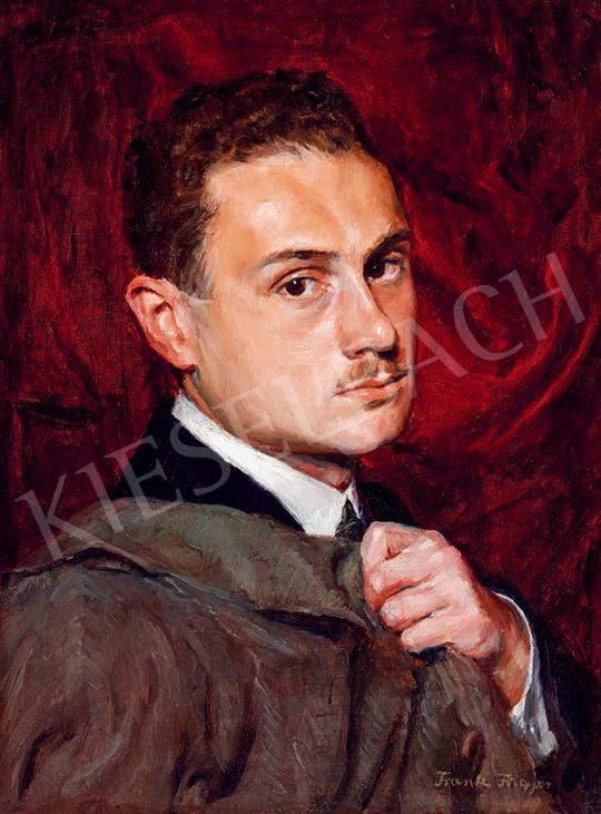 Frank Frigyes - Fiatalkori önarckép | 48. téli aukció aukció / 69 tétel