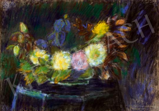 Nagy István - Nagy virágcsendélet íriszekkel | 48. téli aukció aukció / 76 tétel