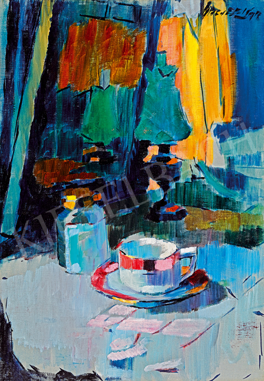 Nagy, Oszkár - Studio Still-Life with an Oil Lamp | Winter Auction auction / 77 Lot